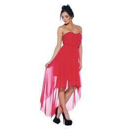 AX Paris Women's Rouche Chiffon Strapless Red Dress - Online Exclusive at Sears.com