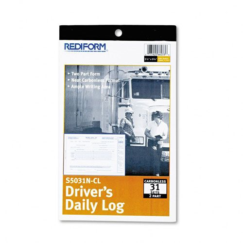 Rediform Driver's Daily Log, Carbonless Duplicate Book