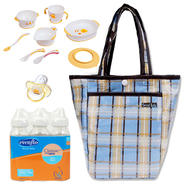Trend-Lab Mini Tulip Tote with Bottle, Training Table Set & Pacifier Bundle at Kmart.com