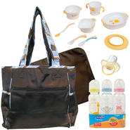 Trend Lab Baby Max Messenger Bag with Bottle, Training Table Set & Pacifier Bundle at Kmart.com