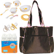 Trend Lab Baby Maya Diaper Bag with Bottle, Training Table Set & Pacifier Bundle at Kmart.com