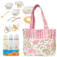 Trend Lab Baby Paisley Park Diaper Bag with Bottle, Training Table Set & Pacifier Bundle at Kmart.com