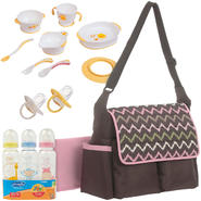 Baby Boom Flap Diaper Bag with Bottle, Training Table Set & Pacifier Bundle at Kmart.com