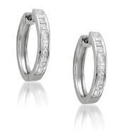 14k White Gold 1ct Princess-cut Diamond Hoop Earrings (H-I, I1-I2) at Sears.com