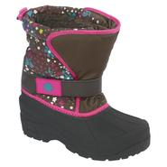Athletech Girl's Rue Brown Floral Print Winter Boot at Kmart.com