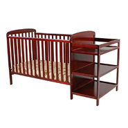 Dream On Me 2 in 1 Full Size Convertible Crib and Changing Table Combo-Cherry at Kmart.com