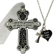 Inspirational Cross Ornament and Necklace Set at Kmart.com