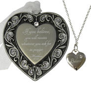 Believe Inspirational Ornament and Necklace Set at Kmart.com