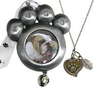Pet Paw Ornament and Necklace Set at Kmart.com