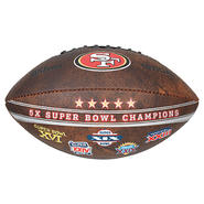 Wilson San Francisco 49ers Commemorative Championship 9-Inch Leather Football at Kmart.com