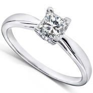 Diamond-Me Princess Cut Diamond Solitaire Engagement Ring 1/2 Carat (ct. tw) in 14k White Gold at Kmart.com