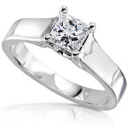 Diamond-Me Princess Cut Diamond Engagement Solitaire Ring 1/2 Carat (ct. tw) in 14K White Gold at Kmart.com