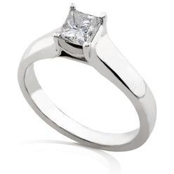 Diamond-Me Princess Cut Diamond Engagement Solitaire Ring 5/8 Carat (ct. tw) in 14K White Gold at Kmart.com