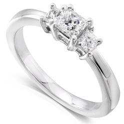 Diamond-Me Three-Stone Diamond Engagement Ring 1/2 carat (ct. tw) in 14K White Gold at Kmart.com