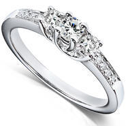 Diamond-Me Diamond Three-Stone Engagement Ring 1/3 carat (ct.tw) in 14K White Gold at Kmart.com