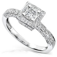 Diamond-Me Diamond Engagement Ring 1/2 carat (ct.tw) in 14k White Gold at Kmart.com