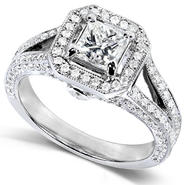 Diamond-Me Princess Diamond Engagement Ring 1 1/3 Carats (ct.tw) in 14K White Gold at Kmart.com