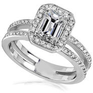 Diamond-Me Emerald Cut Diamond Ring 1 1/3 Carat (ct.tw) in 14k White Gold at Kmart.com