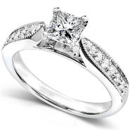 Diamond-Me Princess Diamond Engagement Ring 5/8 carat (ct.tw) in 14k White Gold at Kmart.com
