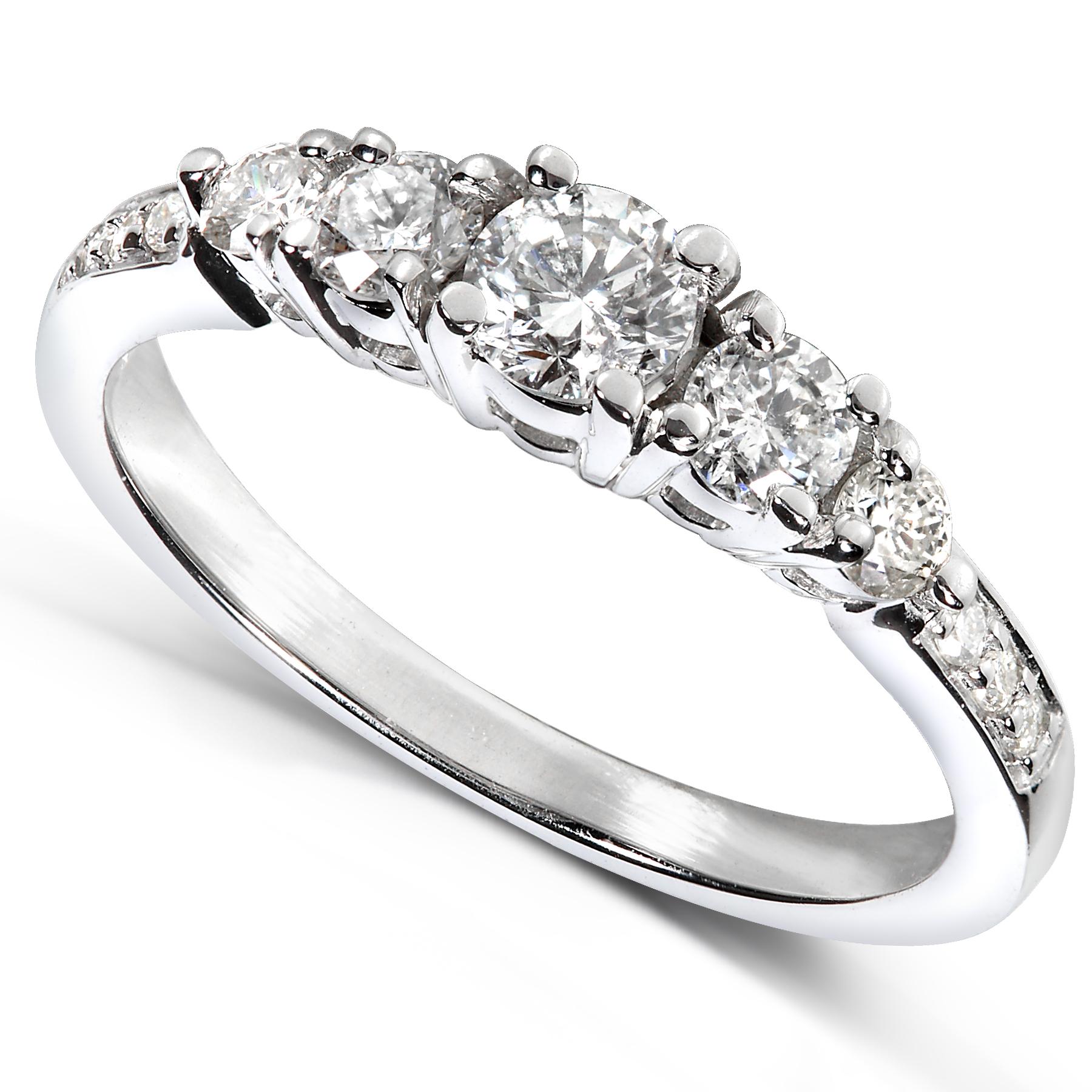 Diamond-Me Diamond Engagement Ring 5/8 carat (ct.tw) in 14k White Gold