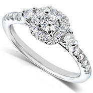 Diamond-Me Diamond Three-Stone Engagement Ring 1/2 carat (ct.tw) in 14K White Gold at Kmart.com