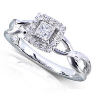 Diamond-Me Princess Cut Diamond Engagement Ring 1/3 Carat (ct.tw) in 14k White Gold at Kmart.com