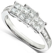 Diamond-Me Diamond Three-Stone Engagement Ring 1/2 carat (ctw) in 14k White Gold at Kmart.com