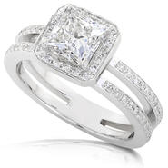 Diamond-Me Princess Cut Diamond Engagement Ring 1 1/3 Carat (ct.tw) in 14k White Gold at Kmart.com