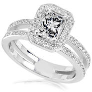 Diamond-Me Radiant Diamond Engagement Ring 1 1/3 carat (ct.tw) in 14k White Gold at Kmart.com