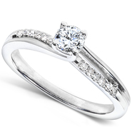Diamond-Me Round Diamond Engagement Ring 1/3 carat (ct.tw) in 14k White Gold at Kmart.com