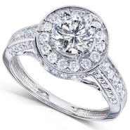 Diamond-Me Round Diamond Engagement Ring 1 1/3 carat (ct.tw) in 14k White Gold at Kmart.com