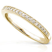 Diamond-Me Round Diamond Wedding Band 1/10 carat (ct.tw) in 14K Yellow Gold at Sears.com