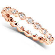 Diamond-Me Diamond Eternity Band 1/3 carat (ct.tw) in 14k Rose Gold at Kmart.com