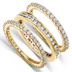 Diamond-Me Round Diamond 1 1/2 Carat (ct.tw) Stackable Eternity Bands in 14k Yellow Gold at Kmart.com
