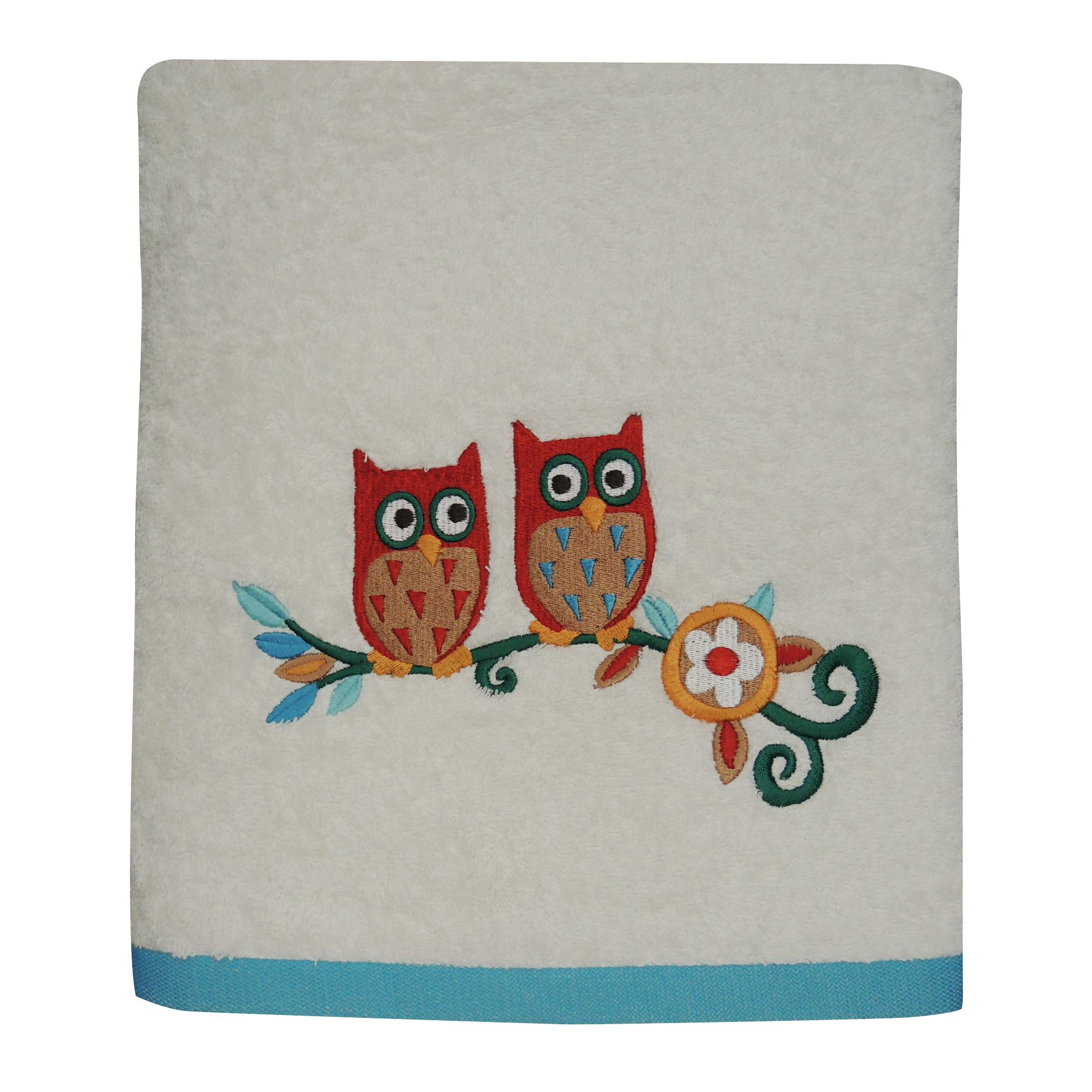 Colormate Owl Garden Bath Towel