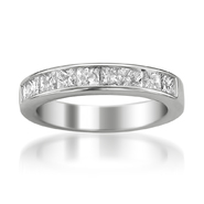 14K White Gold Women's 1 1/2ct Certified Diamond 9-stone Wedding Band (G-H, SI3-I1) at Sears.com