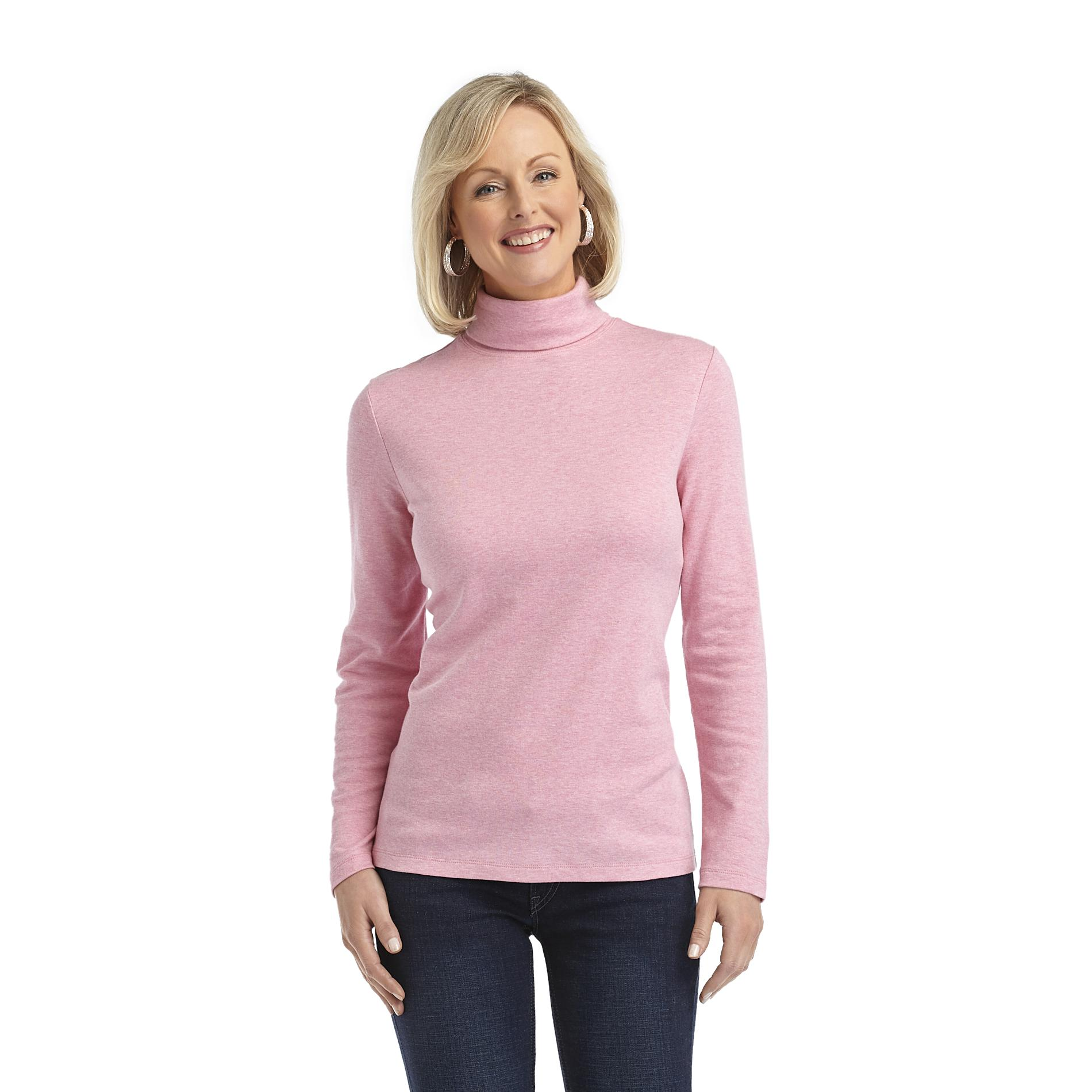 Laura Scott Women's Turtleneck Top - Solid at Sears.com