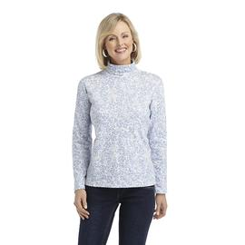 Laura Scott Women's Printed Turtleneck - Floral at Sears.com