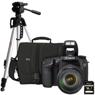 -Canon 7D Kit, SDHC Card, Case and Tripod Bundle