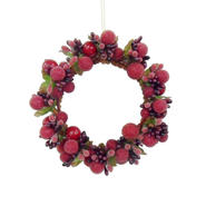 Sandra by Sandra Lee Merry Holiday Mini Berry Wreath Ornament at Kmart.com