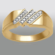 1/7 ct Diamond Yellow Gold Over Sterling Silver Band at Sears.com