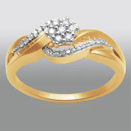 1/7ct Yellow Gold Over Sterling Silver Diamond Bridal Set at Sears.com