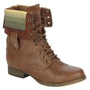 SM New York Women's Corey Ankle Combat Boot - Cognac at Sears.com