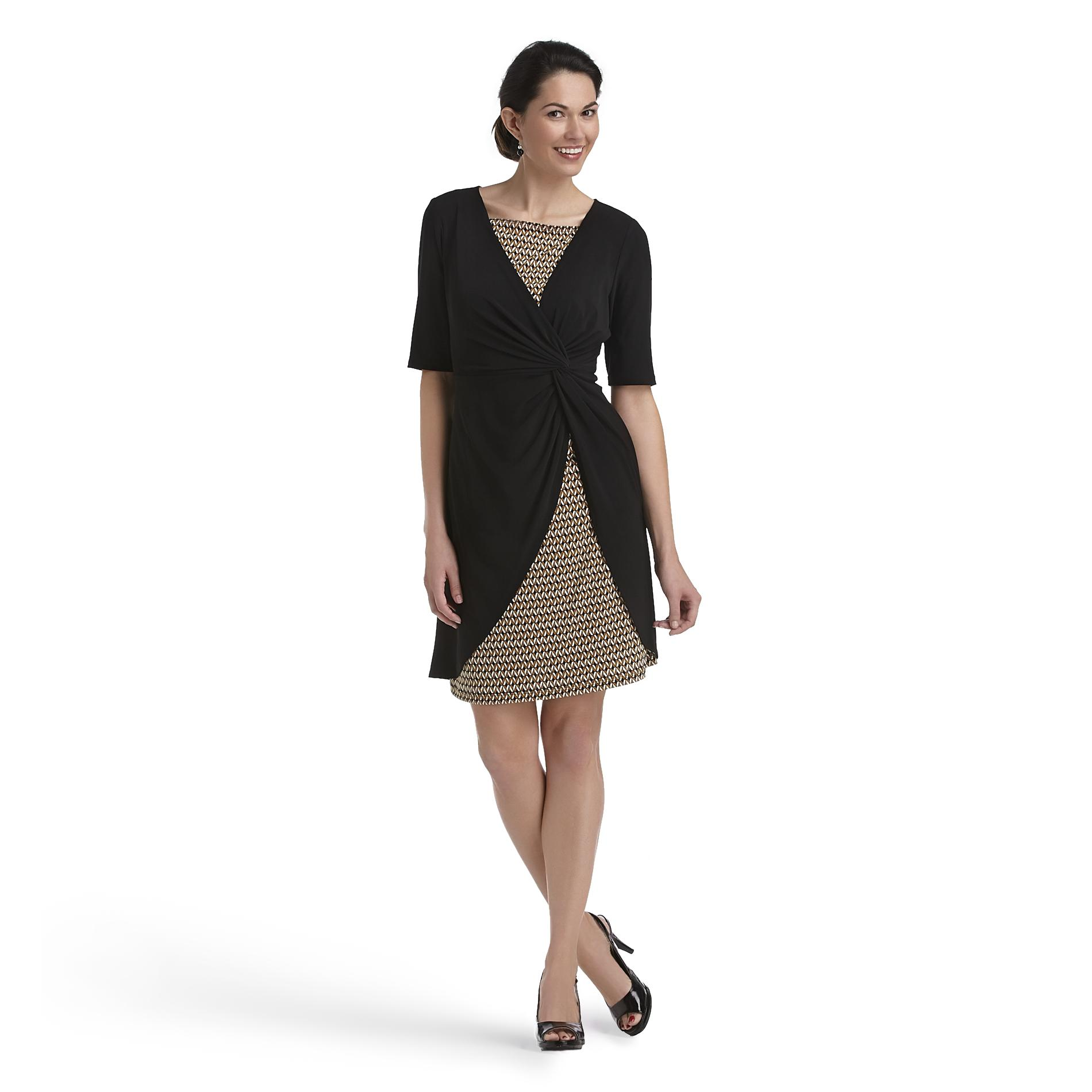 Women's Knit Dress - Geometric
