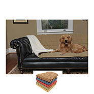 Carolina Pet Company Large Box Quilt Microfiber & Sherpa Throw at Kmart.com