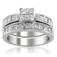 14K White Gold 2ct Diamond Invisible-Set Bridal Ring Set (G-H, SI3-I1) at Sears.com