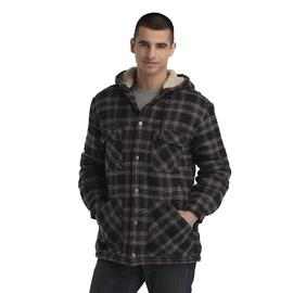 Basic Editions Men's Hooded Jacket - Plaid at Kmart.com