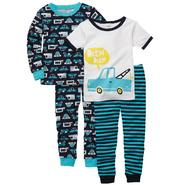Carter's Infant & Toddler Boy's 4-Piece Pajamas - Automobile at Sears.com