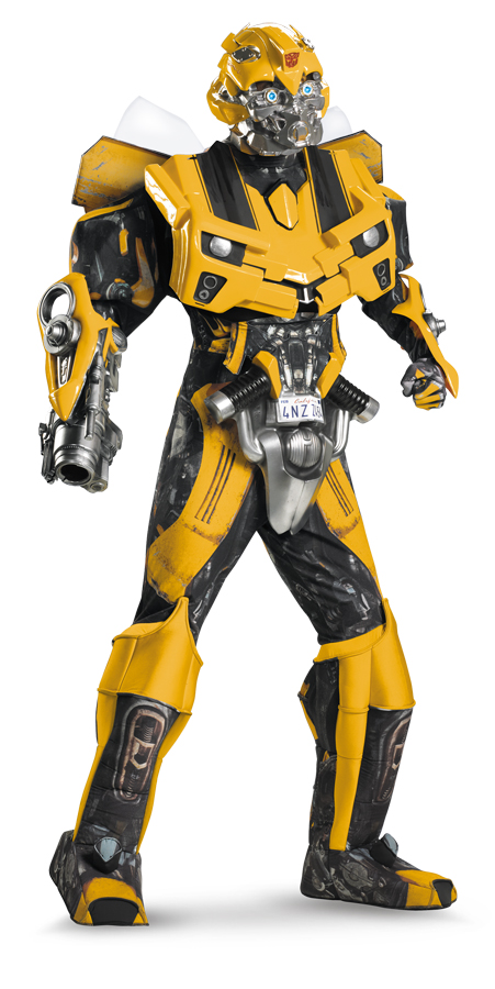 Disguise Men's Hasbro Transformers Age Of Extinction Movie Bumblebee Theatrical with Vacuform Plus 3D Costume, Black/yellow, X-L PartNumber: 05044737000P