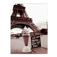 Trademark Fine Art Kathy Yates 'Eiffel Tower with Ice Cream Cone 2' Canvas Art at Kmart.com